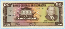NICARAGUA 1000 Cordobas D.1972 P128b UNC Ser.C386743