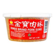 KIMBO Brand Pork Sung Cooked Shredded Dried Pork Product 4oz