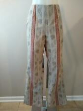 ETCETERA VINTAGE TEXTURED BROCADE SAMPLE BOOT CUT PANTS size 8 NWT $145