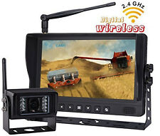 "7"" DIGITAL WIRELESS MONITOR REAR VIEW BACKUP CAMERA SYSTEM,NO INTERFERENCE"