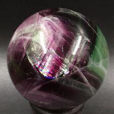 "MAGIC-2.1"" 258g Natural fluorite sphere polished ball Healing stone H6513"