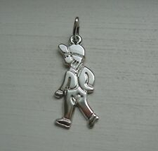 RQC Signed Sterling Silver Little Boy with Baseball Cap Figural Charm