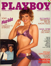 Playboy febbraio 1981 ed.ITA  Marilyn Monroe Giada Gerini  Marilda Donà