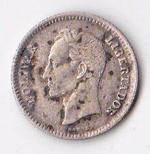 Republica De Venezuela 25 Centimos Silver Coin 1954