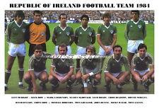 REPUBLIC OF IRELAND TEAM PRINT 1984 (GREALISH/LAWRENSON/GALVIN)