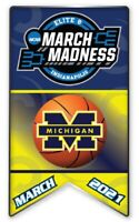 ELITE 8 MICHIGAN WOLVERINES 2021 LOGO PIN MARCH MADNESS FINAL FOUR BASKETBALL