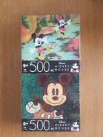 (2) 500 Pc Puzzles Jigsaw Disney Mickey & Minnie Mouse Sealed Spinmaster New!
