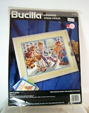 Bucilla Poo's Corner Counted Cross Stitch Kit #40903 Corrine Hartley Teddy Bears