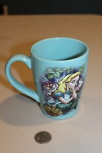 NEW Alice in Wonderland Cheshire Cat Teal Blue Disney Store Coffee Mug Cup 12 oz