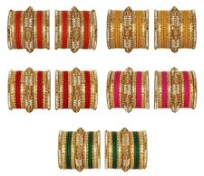 Indian Bollywood Matching Wedding 42 pcs Multi Color Bangle Bracelet Jewelry Set