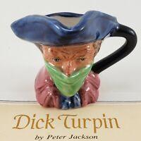 Franklin Mint Vintage Dick Turpin Outlaw Miniature Figure 1983 Toby Mug Jug