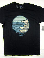 Rip Curl Surf Line Up standard fit short sleeve t shirt men's black size MEDIUM