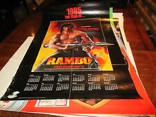 """Rambo , POSTER , First Blood Part 2 , 1985 , 24"""" X 36"""""""