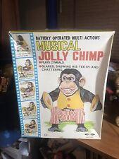 Daishin Musical Jolly Chimp Monkey In Box Great Shape Works Well