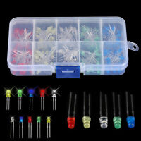 150pcs 3mm &5mm LED Light White Red Green Yellow Assorted Emitting Diode DIY Set