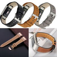 Genuine Leather Wrist Band Watch Strap For Fitbit Charge 2 Tracker Large Small