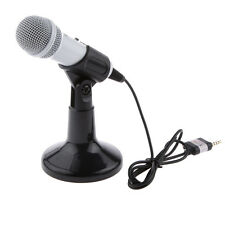 Mini Desktop Studio Recording Microphone Mic for Iphone Singing Song White
