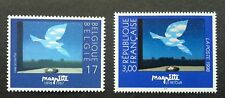 Belgium France Joint Issue René Margritte 1998 Bird Paint Arts (stamp pair) MNH