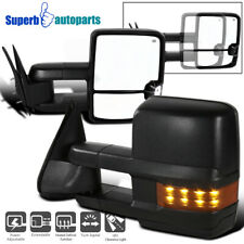 For 88-02 Tahoe C/K 1500/2500/3500 Power Heated Side Tow Mirrors W/ LED Signal