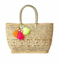 NWT!! Lilly Pulitzer Riviera Straw Tote/ Bracelet Bag Natural / Beach, Pool Bag