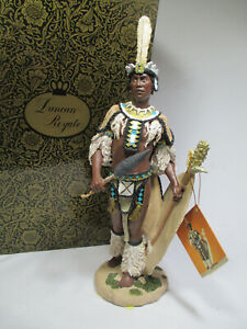 """NEW Duncan Royale History Of Africa's Kings & Queens Figurine """"Shaka"""" Limited"""