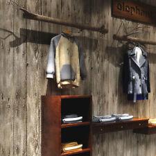 10M Roll Retro Beige Grey Realistic Wood Plank Panel Vinyl Desinged Wallpaper