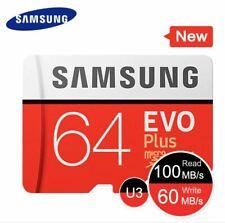 SAMSUNG Memory Card EVO Plus Micro SD 32GB 64GB 128GB 256GB Adapter Class 10 ✔️