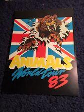 Animals Rock Group World Tour 1983 Program