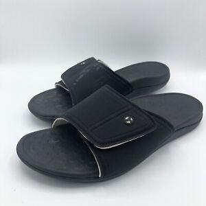 Vionic Kiwi Black Slide Comfort Sandal Mens Size 12