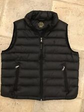 Lady Polo Ralph Lauren Navy Quilted Down Vest Size L New