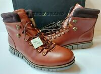 Cole Haan ZERØGRAND Leather Hiker Waterproof Boots Men 11.5 D/M British Tan $250