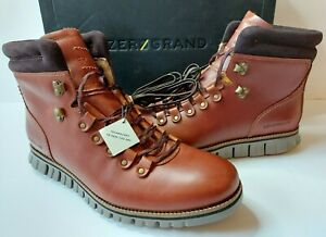 Cole Haan ZERØGRAND Leather Hiker Waterproof Boots Mens 7 D/M British Tan $250