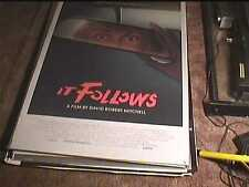 """IT FOLLOWS """"B"""" ROLLED SS 27X40 ORIG MOVIE POSTER VERY RARE STYLE CULT HORROR"""