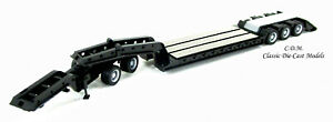 Heavy Equipment Black Lowboy Trailer w/Jeep 1/87 HO Scale Promotex 5396