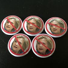 "10 TRUMP FANS ANTI HILLARY  1"" Campaign Pin Button Pinback Badge Lot #P009B"