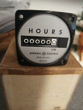GE General Electric Elapsed Time Hour Meter 1/10 hr  120 VOLT. UNUSED.