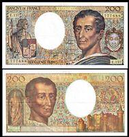 France, 200 francs, 1994, P-155 (155f), * Montesquieu * / Fayette    VF