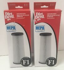 Lot of 2 Genuine Dirt Devil F1 HEPA Vacuum Filters 3JC0280000 Bagless Uprights