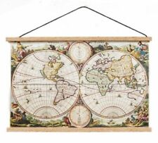 1:12 Scale  Dolls House Ancient World Map Wall Hanging School Accessory