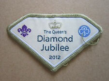 The Queen's Diamond Jubilee Guides Woven Cloth Patch Badge Boy Scouts Scouting
