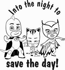 "Catboy Gekko & Owlette Pj Masks Wall Decal Quotes - Kids Room Wall Decor 20""x22"""