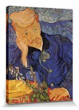 Vincent Van Gogh -Bildnis Dr Gachet Poster Leinwand-Druck Bild (80x60cm) #56914