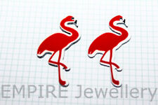 4 x Resin Charms Pink Flamingo 36x22mmm Pendant Earring Necklace Bird Kitsch