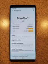 Unlocked Samsung Galaxy Note9 SM-N960U1 128GB Blue w/ Original Box & Accessories