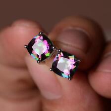 925 Silver Fashion MYSTICAL Topaz Gemstone Birthstone Ear Studs Earrings