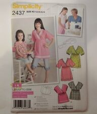 Simplicity 2437 Size 7-14 Girls' Pullover Top in 2 Lengths