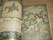 REVUE ART NOUVEAU 1891 NOMBREUSES COUVERTURES LITHO ART NOUVEAU la grande dame