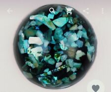 Fits Ginger Snaps Green Blues  SNAP Interchangeable JEWELRY Button 18mm USA