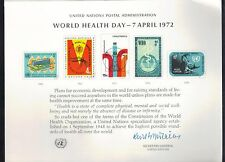 UN United Nations Souvenir Cards Scott #1 M NH 1972 World Health Day