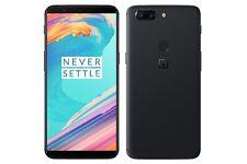 OnePlus 5T A5010 64GB Nero SIM Gratis/Sbloccato Telefono Cellulare-A-Grade